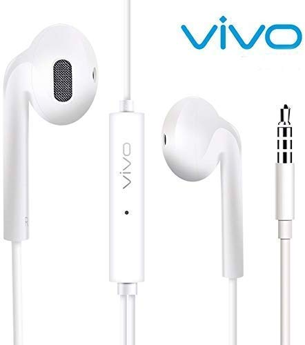 JBi Earphone/Headphone with Mic Compatible with Vivo U10/Z1 Pro/V17 Pro/V15/S1/Z1X/V15 Pro/Y15/Y17/Y12/Y90/V11 Pro/U10/Y91/V9/Y91i/S1, Vivo Y95, Vivo Y91, Vivo V11, and All 3.5 Jack Support