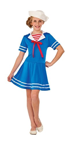 Sea Sweetie Navy Sailor Girl Retro Old Fashion Military Girls Dress Costume (Retro Sailor Costume)