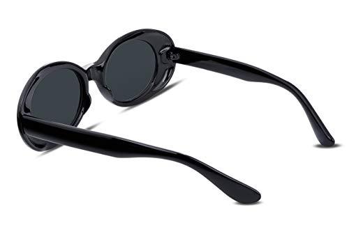 FEISEDY Clout Goggles Kurt Cobain Sunglasses Retro Oval Women Sunglasses B2253