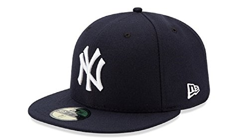 New Era Mens New York Yankees MLB Authentic Collection 59FIFTY Cap, Size 7 1/4