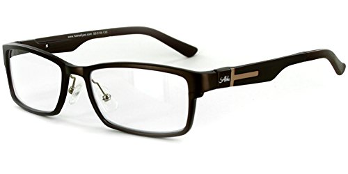 Alumni RX02 Optical-Quality Reading Glasses with RX-Able Aluminum Frames for Men (Brown - Walmart Glasses Reading Mens