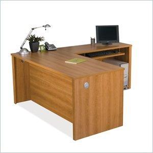 Bestar Embassy L-shape Computer Desk in Cappuccino Cherry (Bestar Computer Cherry Desk)