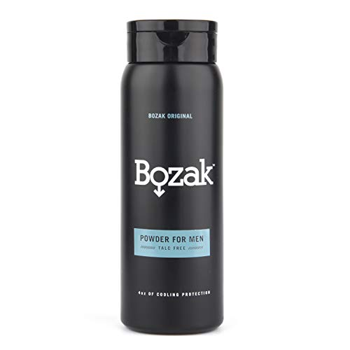 Bozak Original Cooling Body Powder for Men - 4 oz. Talc-Free, Absorbs Sweat, Stops Chafing, Keeps Skin Dry - Antifungal, Jock Itch Defense Deodorant with Menthol