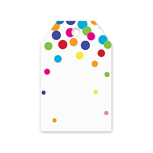 Rainbow Confetti Dots Printed Gift Tags - 2 1/4 x 3 1/2 - 50 -