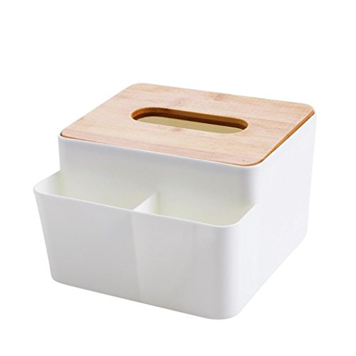 YJYDADA Bamboo Cover Tissue Boxes Desktop Pumping Paper Living Room Simple Storage Box (16 x 15 x10cm) (Bench Outdoor Rubbermaid)