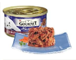 Gourmet Solitaire Can With Beef In Tomato Sauce 85g