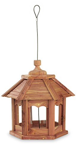 Pennington Cedar Gazebo Bird Feeder, Amish Made in the USA (Open Gazebo)