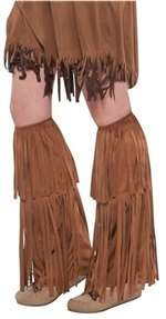 Brown Fringe Leg Warmers Halloween Costume Accessories for