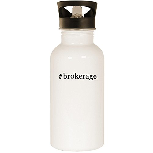 #brokerage - Stainless Steel Hashtag 20oz Road Ready Water Bottle, White
