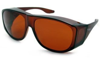 (Solar Shield Fits-Over SS Polycarbonate II Amber Sunglasses, 50-15-125mm)