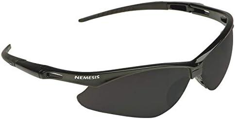 Jackson Safety V30 Nemesis Safety Glasses 25688 (3000356), Smoke Mirror with Black Frame, 12 Pairs/Case