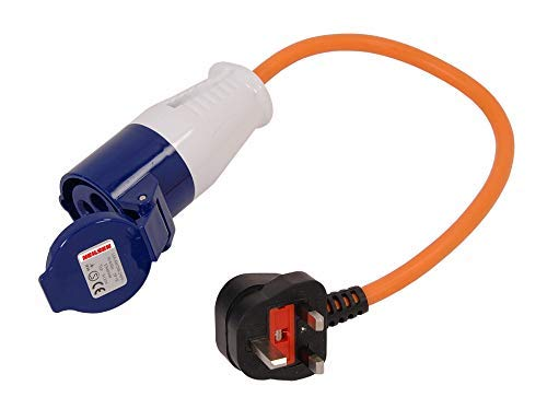 Neilsen 240 V UK CT2898 Caravan to 3 Pin Mains Supply Adaptor Lead Hook Up Cable Converter