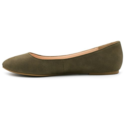 City Classified Womens Thesis Classic Round Toe Ballet Flats New Olive yHLgrXSnG