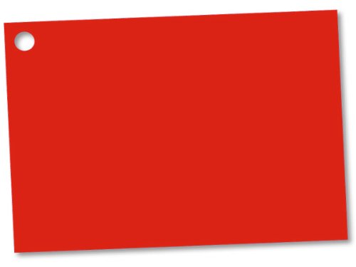 RED Solid Color Gift Cards - Pack of 6 Cards - We Ship Withi