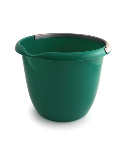 Charles Bentley Plastic Bucket with Pouring Lip 10 Litre Capacity Green