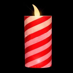 LED Holiday Candy Cane Candle by Blinkee (Cane Makers Candy)