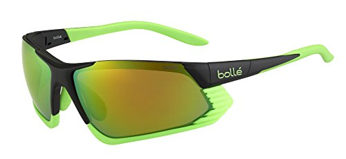 Bolle Cadence Sunglasses, Matte Black/Green Modulator Brown Emerald Oleo - Spanish Sunglasses