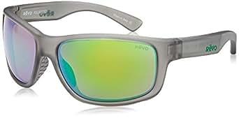 Revo Baseliner RE 1006 Polarized Wrap Sunglasses, Crystal Grey/Green Water, 61 mm