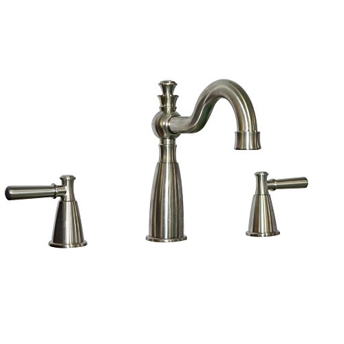 Bell Roman Tub Faucet - Belle Foret SN-WHRO102WH Artistry 2-Handle Deck-Mount Roman Tub Faucet in Satin Nickel