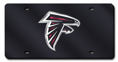 - Rico Industries NFL Atlanta Falcons Laser Inlaid Metal License Plate Tag