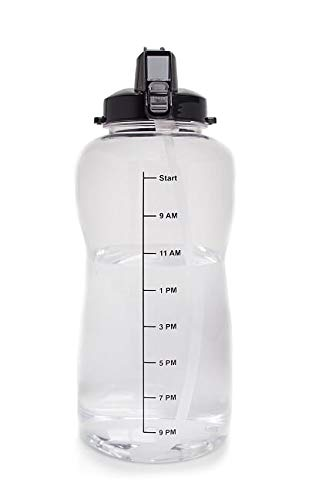 amazon com 1 gallon 128oz water bottle with a straw