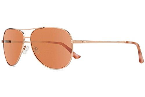 (Revo Relay Sunglasses, Rose Gold Frame, Open Road 59mm Lenses, part of the Global Fit Collection)