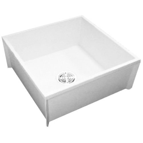 Proflo PFMB2424 24'' X 24'' Floor Mounted Mop Service Sink with Integral Drain, White by ProFlo