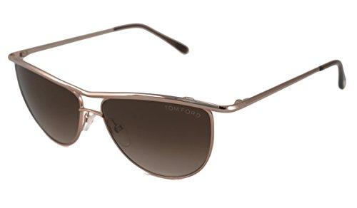 Tom Ford 0182 Helene Bronze Frame/Mauve Lens Metal - Tom Pads Glasses Ford Nose