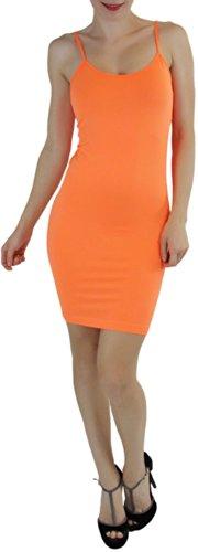 orange cami dress - 2