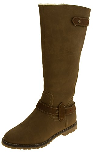 Footwear Studio Womens KEDDO Wool Lined Tall Boots Camel