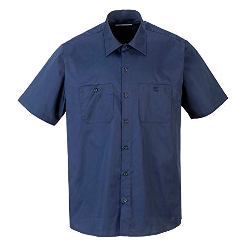 Portwest S124NARXXL Industrial Work Shirt S/Capacity, Volume, Fabric, Xx-Large, Navy