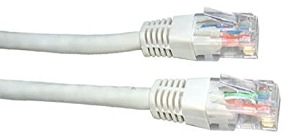 Consoletronic White Network Ethernet RJ45 Cat5E-CCA UTP PATCH 26AWG Cable Lead 10m CON2764