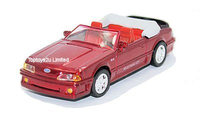 New Ray Newray 1:43 Diecast 1989 Ford Mustang Gt 5.0 Convertible In Red - All American City Cruiser Collection -  48642