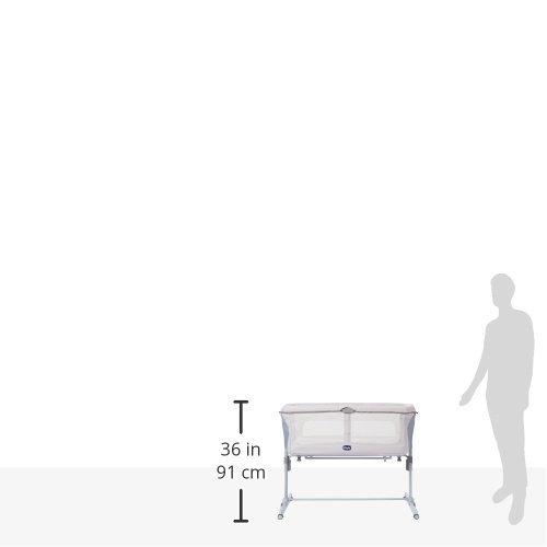 Chicco Next2Me Dream - Cuna de colecho con anclaje a cama, balancín y 11 alturas, colección 2017, color gris: Amazon.es: Bebé