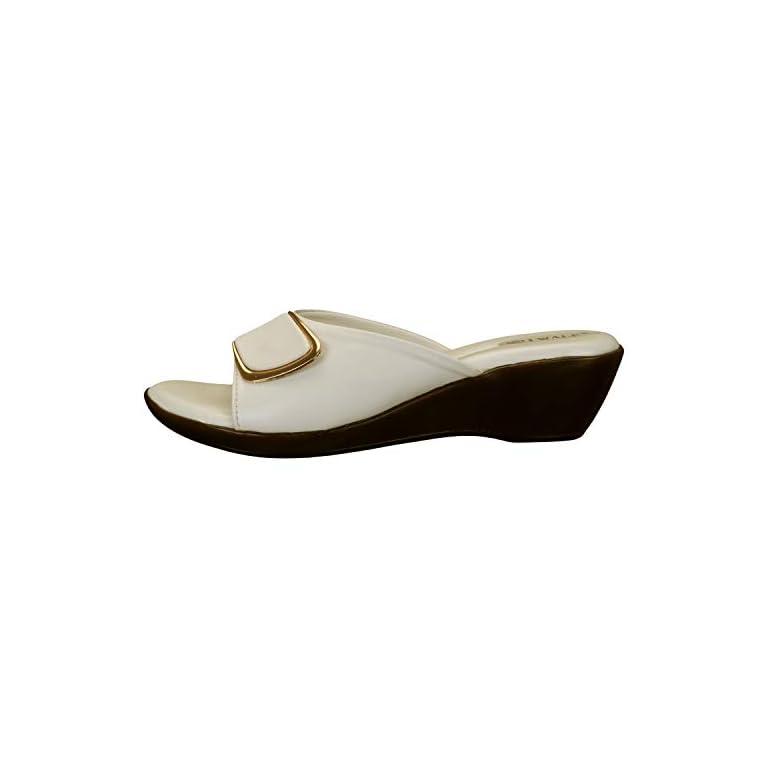 31CK%2BqZaCZL. SS768  - 1 WALK Comfortable Women-Flats/Fashion Slippers/Casual Footwear/Party slippers/MP-E101(A,B,C,D,E,)-$P