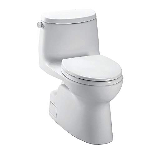 TOTO Carlyle II One Piece Tank Toilet, 1.28 Gallons per Flush, Cotton