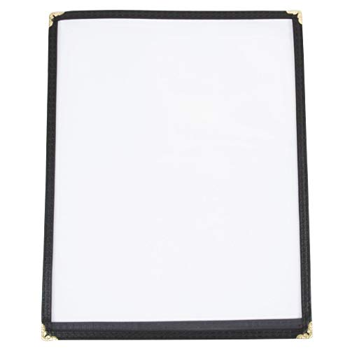 - JR SALES CORP, VAL-A1117-BLACK, 25 Menu Covers, Single Panel, 2 Views, Holds 11