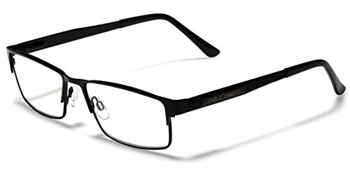 Metal Wire Rim Rectangular Frame Reading Glasses with Spring Hinge Various Strengths and Colors LARGE - Wire Square Glasses