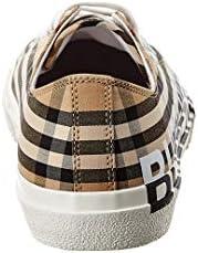 BURBERRY 80241491 Check Chaussures de Sport en Tissu et Caoutchouc pour Homme Beige