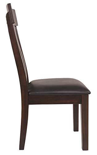 Ashley Furniture Signature Design – Haddigan Dining Room Chair – Upholstered Chairs – Set of 2 – Dark Brown