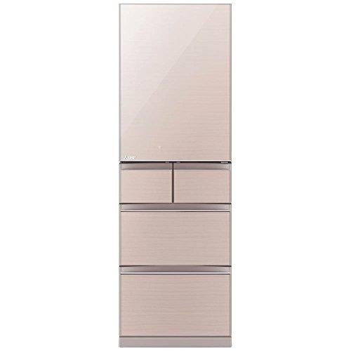 三菱 455L 5ドア冷蔵庫(クリスタルフローラル)【右開き】MITSUBISHI 置けるスマート大容量 Bシリーズ MR-B46C-F B075H5TTMB