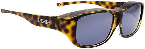 Jonathan Paul® Fitovers Quamby Large Polarized Over Sunglasses ; Cheetah & Polarvue - Paul Sunglasses Jonathan