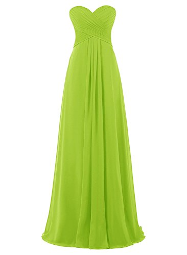 Pleated Long Empire Draped Gown Green Anlin Women Lime Prom Flowy AN156 Formal Bridesmaid s Uqwxt6ftEA