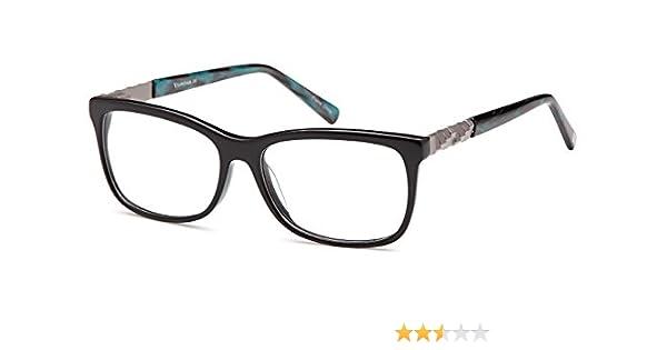 d7e1912778 Amazon.com  DALIX Womens Aphrodite Eyeglasses Frames Prescription 53-15-140  (Black)  Clothing