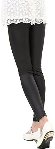 Tulucky Girls Stretchy Faux Leather Legging Teens Pants