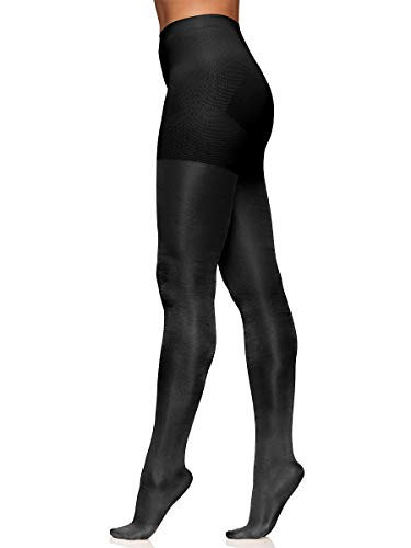 Berkshire Spandex Tights - Berkshire Women's The Easy On! Plus Size 40 Denier Shine On Tights, Black, 5X-6X