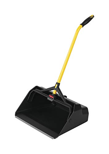Rubbermaid Commercial Maximizer Heavy Duty Stand Up Debris/Dust Pan, Yellow (2018781) (Renewed) ()