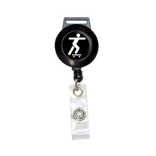Skateboarding Skate Skater Lanyard Retractable Reel Badge ID Card Holder ()