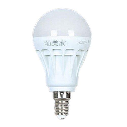 SODIAL(R)E14 Ahorro de Energia LED Bombilla Luz Lampara 220V 5W BLANCO FRIO Normal