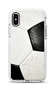 Stylizedd iPhone XS Max Cover Impact Pro White Military Grade Shockproof Case - Football (Soccer Ball) Full